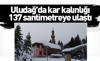 Uludağ'da kar kalınlığı 137 santimetreye ulaştı