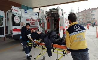 Cip ile elektrikli bisiklet çarpıştı:1 yaralı