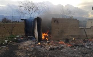 İnegöl'de çiftlik yangını