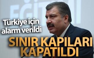 Bakan Koca: 'Türkiye-İran sınır kapısı kapatıldı'