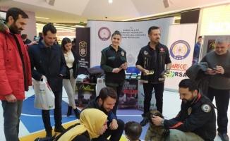 Bursa'da AVM'de narkotik nokta uygulaması