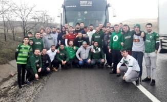 Bursasporlu taraftarların 30 saatlik yolculuğu başladı