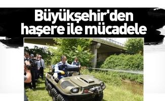 Büyükşehir'den haşere ile mücadele