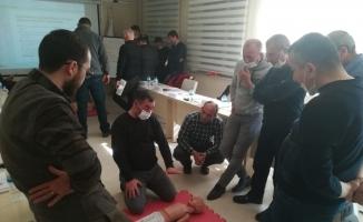 Fen işleri personeline ilk yardım eğitimi