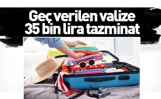 Geç verilen valize 35 bin lira tazminat