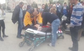 İnegöl'de motosiklet kazası