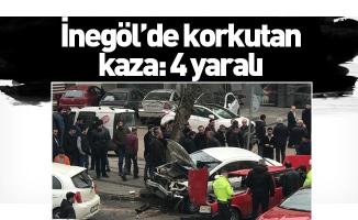 İnegöl'de korkutan kaza: 4 yaralı