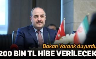 Sanayi ve Teknoloji Bakanı Varank: 'TÜBİTAK Bireysel Genç Girişimci programıyla 200 bin liraya kadar hibe vereceğiz'