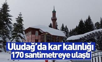 Uludağ'da kar kalınlığı 170 santimetreye ulaştı