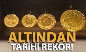Altın sert yükselişinin ardından tarihi rekorunu yeniledi