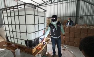 Bursa'da kaçak 1 milyon liralık dezenfektan üreten 5 kişi adli kontrolle serbest