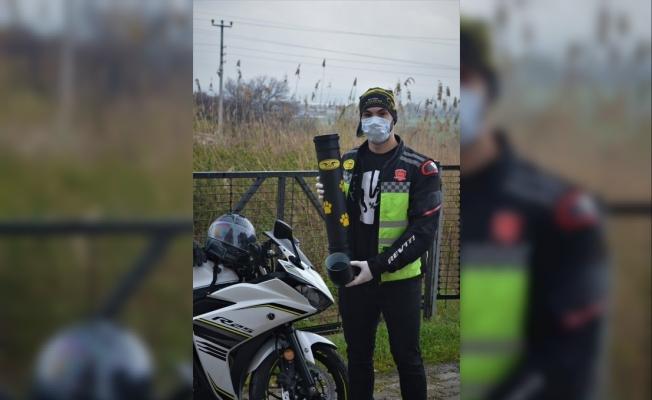 Bursa'daki Motosiklet Kulübü üyeleri sokak hayvanlarını unutmadı