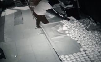 Manavdan hırsızlık kamerada
