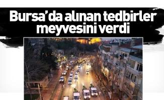 Bursa'da alınan tedbirler meyvesini verdi