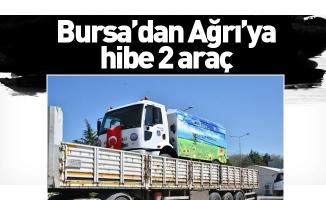 Bursa'dan Ağrı'ya hibe 2 araç