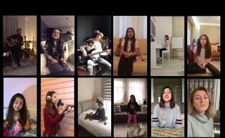Bursalı öğrencilerden 'Evde Kal' klibi