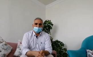 Hastanede korona tedavisi gören yaşlı adam alkışlarla taburcu edildi