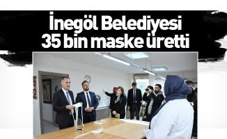 İnegöl Belediyesi 35 bin maske üretti