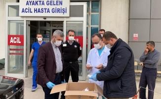 İznik Belediyesinden sağlık çalışanlarına tıbbi malzeme desteği