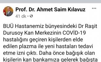 Uludağ Üniversitesi rektöründen kan bağışı çağrısı