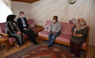 Başkan Taban'dan şehit ailelerine ziyaret