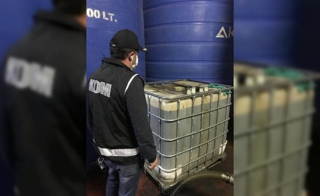 Bursa'da kaçak mazot operasyonu