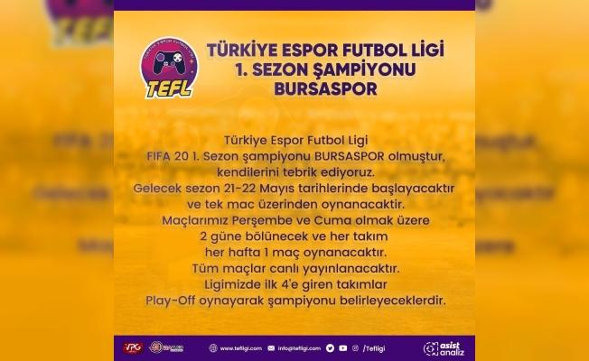 Bursaspor, ilk sezonun şampiyonu oldu
