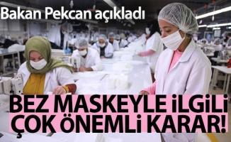 Çok kullanımlı bez maske ihracatında ön izin şartı aranmayacak