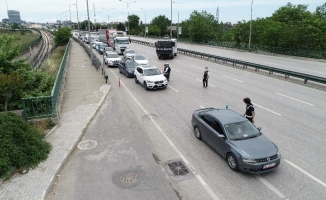 Kısıtlamanın son günü Bursa polisi kuş uçurtmadı