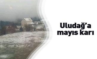 Uludağ'a mayıs karı