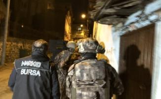 Bursa'da Dron destekli 2 bin 500 polisle şehit Erman Özcan operasyonu