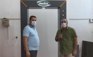 Dizdar Tekstil'den dezenfekte kabini