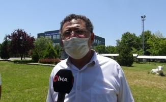 (Özel) Bursa'da 6 çocuk babası oğlu ile sınava girdi