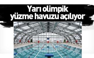Yarı olimpik yüzme havuzu açılıyor