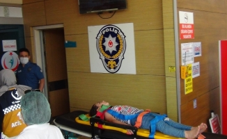 Bursa'da  2. kattan düşen 7 yaşındaki çocuğun burnu bile kanamadı