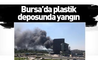 Bursa'da plastik deposunda yangın
