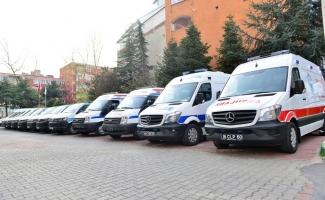 Korona virüse karşı ambulanslar dezenfekte ediliyor