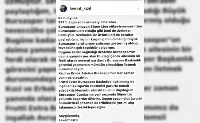 Levent Kızıl'dan başkanlık açıklaması