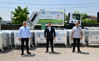Mustafakemalpaşa'ya 500 adet çöp konteyneri hibe edildi