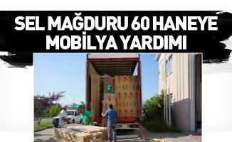 Sel mağduru 60 haneye mobilya yardımı
