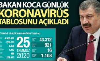 Türkiye'de bugün koronavirüsten hayatını kaybedenlerin sayısı: 16
