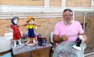 25 yıllık kaleci heykel ve boyama sanatına el attı