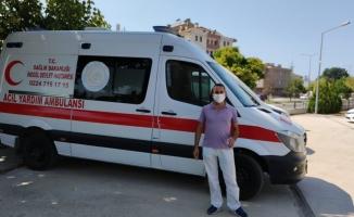Ambulans şoförünün kasko tepkisi