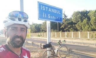 Bisikletle 5 günde Marmara Denizi'nin etrafını dolaştı