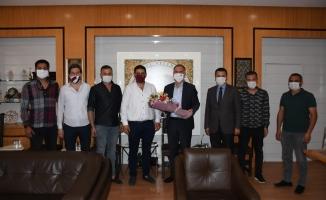 İnegölspor yeni yönetimi protokol ziyaretlerine başladı