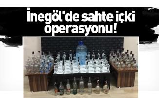 İnegöl'de sahte içki operasyonu!