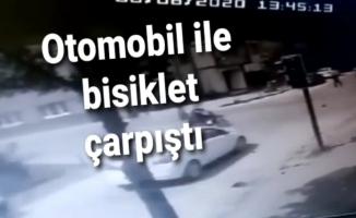 Otomobil ile bisiklet çarpıştı: 2 yaralı