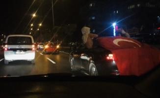 (Özel) Bursa'da 'ölümüne' asker uğurlaması