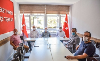 Başkan Özkan'dan MHP ilçe teşkilatına ziyaret