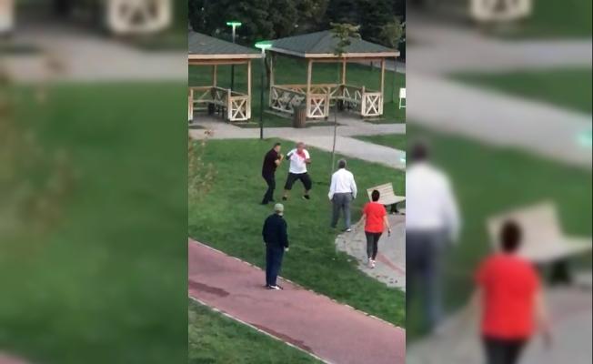 Bursa'da çimlere basma kavgası